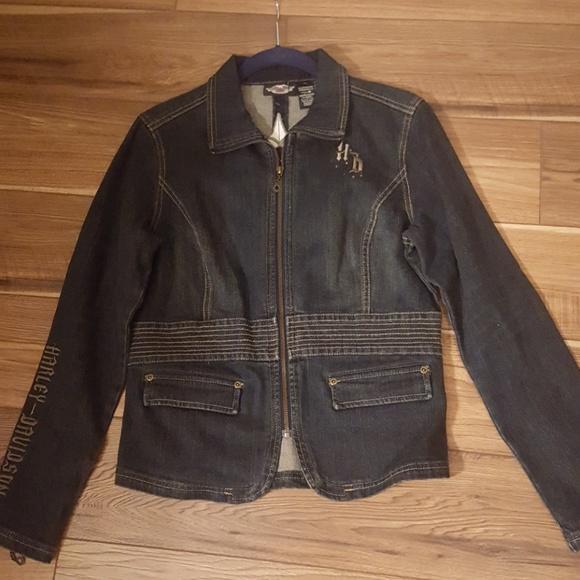 Harley Davidson jean jacket NWOT